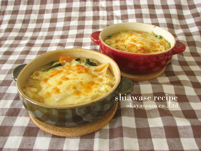 野菜とお餅のグラタンスープ