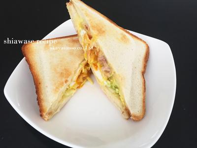 卵とツナのホットサンド